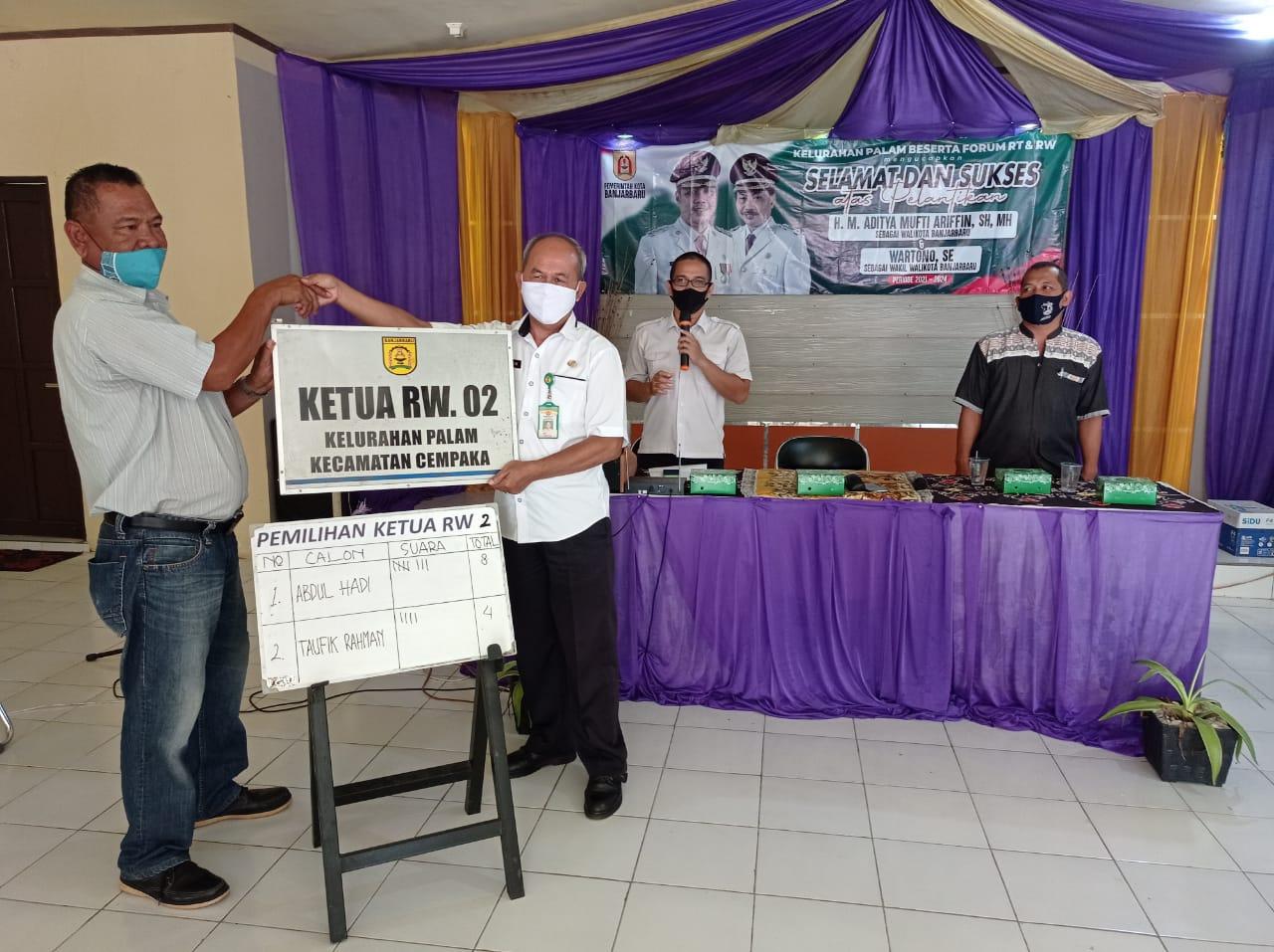 Pemilihan Ketua RW.002 Kelurahan Palam
