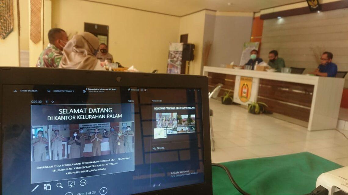 Kunjungan Studi Kelurahan Antasari, HSU